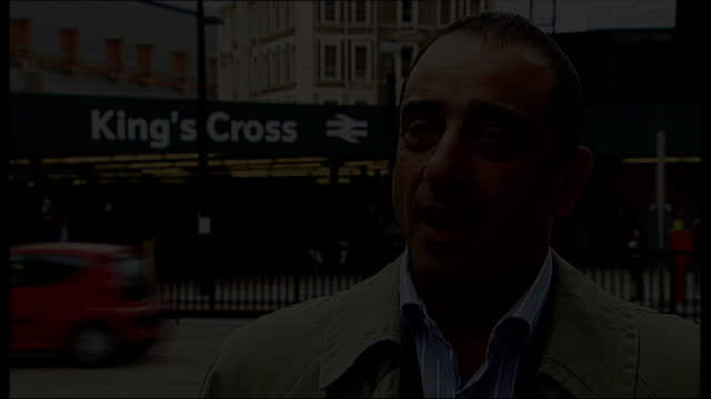 london bombings inquest: cctv footage of bombers released; london: ext set-up shot of joseph martoccia outside king's cross station joseph martoccia... - squadra di cricket video stock e b–roll