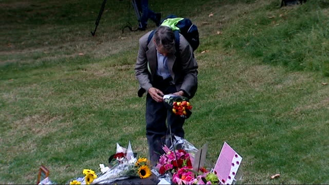 widow of suicide bomber loses legal appeal hyde park people laying flowers at 7/7 london bombings memorial statue in hyde park - legal appeal stock videos & royalty-free footage