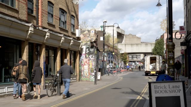 london brick lane to the north - railway bridge stock videos & royalty-free footage
