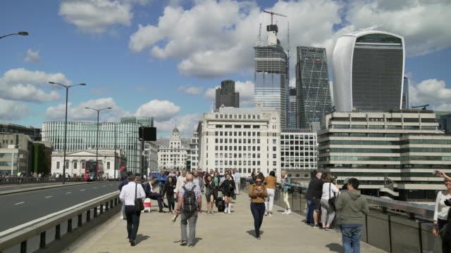London Bridge and City of London Skyscrapers
