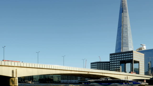 london bridge and the shard skyscraper - london bridge england stock videos and b-roll footage