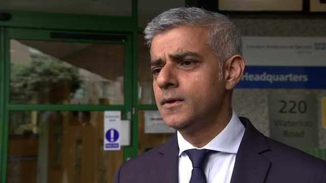 Alleged intelligence failings ENGLAND London EXT Sadiq Khan interview SOT The focus of the police and the security experts is on the attack on...