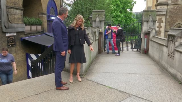 Impact of attacks still felt two years on ENGLAND London Borough Market EXT Julie Wallace and Mark Wallace up stairs to scene of Sara Zelenak's...