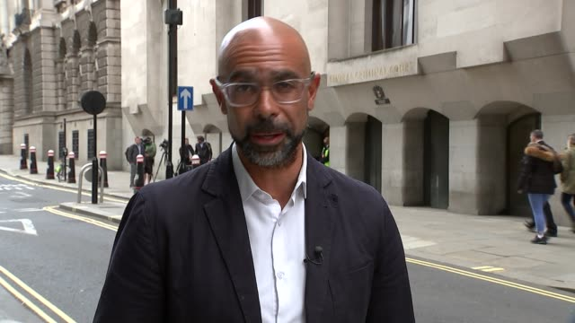 london bridge victim fought attacker with skateboard england london old bailey ext reporter to camera sot - inquest stock videos and b-roll footage