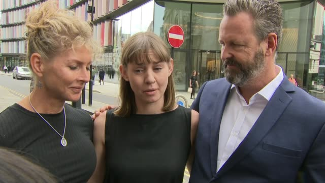 stabbing survivor geoffrey ho describes attackers approach england london old bailey ext candice hedge interview sot flanked by julie wallace and... - inquest stock videos and b-roll footage