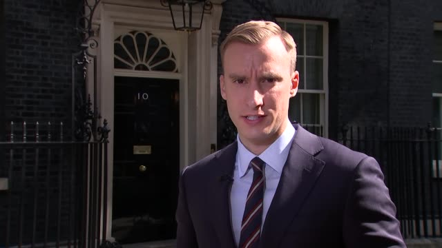 news special 09:25 - 10:00; studio julie etchingham ext paul brand live 2-way interview from downing street sot - julie etchingham stock videos & royalty-free footage