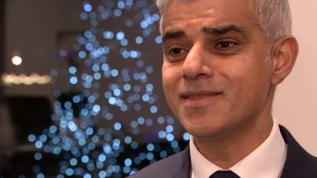 message from the mayor of london sadiq khan england london int sadiq khan interview sot - cathy newman stock videos & royalty-free footage