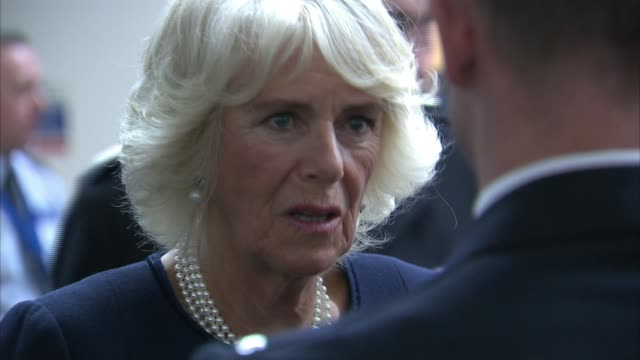Prince Charles and Camilla visit hospital and police command centre Metropolitan Police Central Communications Command PC Liam Dolphin interview SOT...
