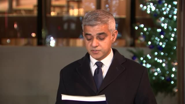 sadiq khan press conference england london new scotland yard ext / night sadiq khan press statement sot - sadiq khan stock videos & royalty-free footage