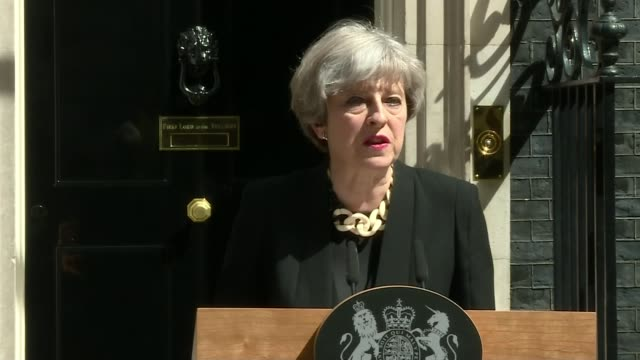 seven killed and 48 injured downing street theresa may speech sot cannot pretend that things can continue as they are / country has made progress in... - itv weekend late news点の映像素材/bロール