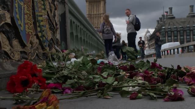 Third attacker and more victims named Westminster Bridge DAY Fading flowers on bridge left for victims of Westminster terror attack London Bridge...