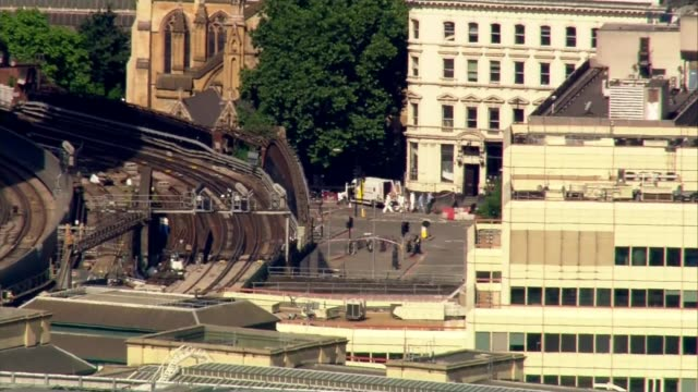 Third attacker and more victims named DAY Forensic officers at crime scene near London Bridge