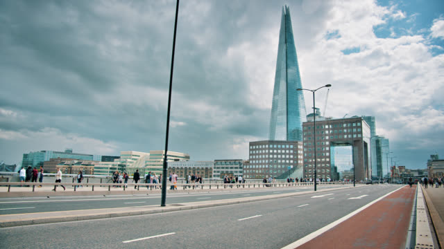 london bridge. pedestrian. travel background. landmark - tarmac stock videos & royalty-free footage