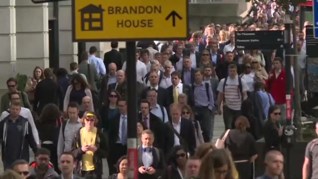 london bridge reopens to commuters after seven people were killed in a terror attack on saturday night when a van smashed into pedestrians on london... - london bridge england stock videos & royalty-free footage