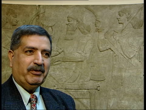 London British Museum INT Muayad Damerji interview SOT we were very happy as if we had found a lost child/ we put them in museum till war came in...