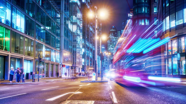 london. business downtown. night - city life stock videos & royalty-free footage