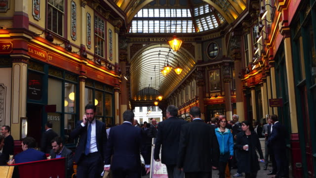 London Business People Meeting In Leadenhall Market