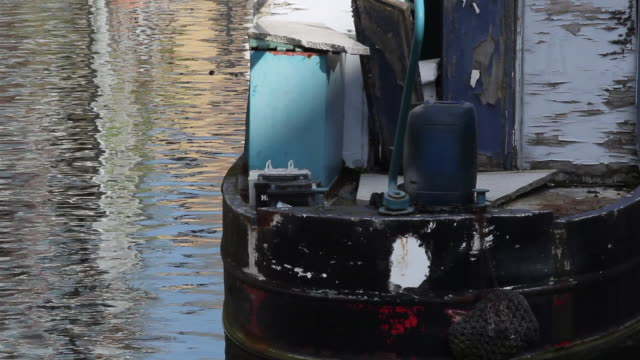london canal boat - canal stock videos & royalty-free footage