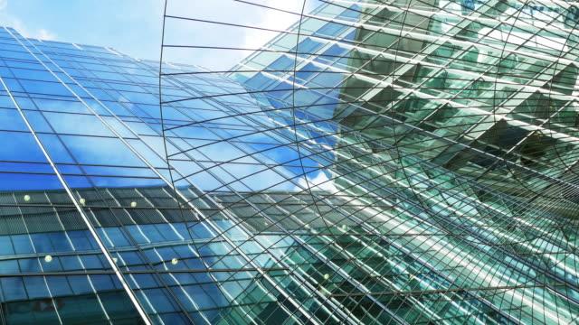 london canary wharf skyscraper against sky - facade stock videos & royalty-free footage