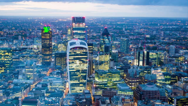 london cbd skyline - london england stock videos & royalty-free footage