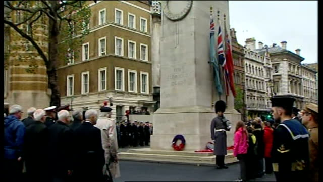 cenotaph war memorial pull out war veterans, soldiers and others attending armistice day ceremony westminster abbey: prince philip, duke of edinburgh... - tomb of the unknown warrior westminster abbey stock videos & royalty-free footage