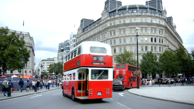 london charing cross and the strand (4k/uhd to hd) - the strand london stock videos and b-roll footage