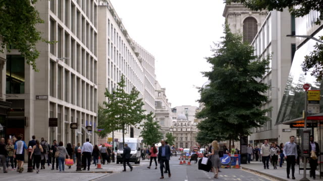 london cheapside to the east - st mary le bow church stock videos & royalty-free footage