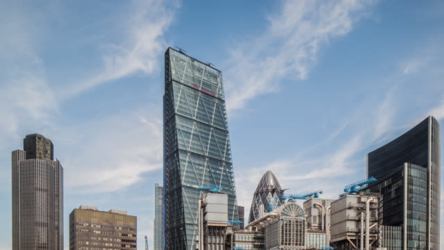london cheesegrater building and lloyds of london - sir norman foster building stock videos & royalty-free footage