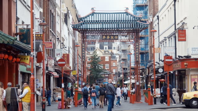 london chinatown (slow motion) - greater london stock videos and b-roll footage