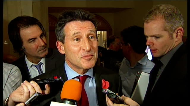 london chosen to host 2017 world athletics championships lord coe speaking to press sot we have the third largest sporting event we have the games in... - championships stock videos & royalty-free footage
