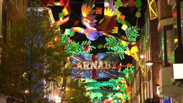 London Christmas lights in Carnaby Street.