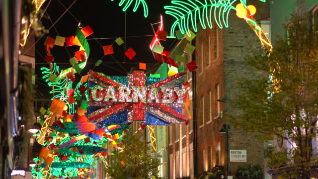 London Christmas lights in Carnaby Street.