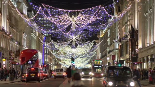 London Christmas lights in Regents Street