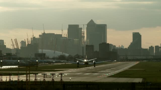 london city airport - moving activity stock videos & royalty-free footage