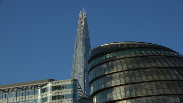 London City Hall and The Shard, London, England, Great Britain