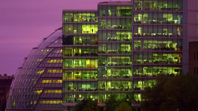 London city hall at dusk