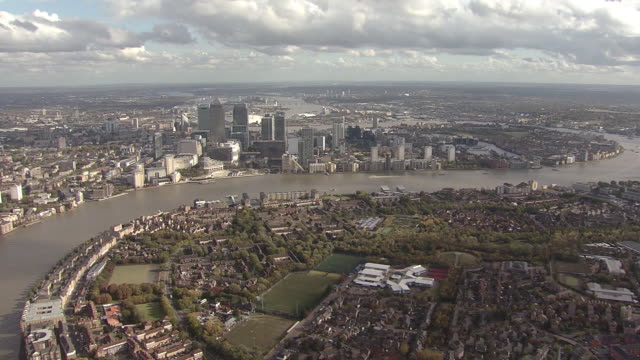 London City Overview by Helicopter