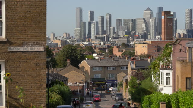 london city skyline over rooftops - column stock videos & royalty-free footage