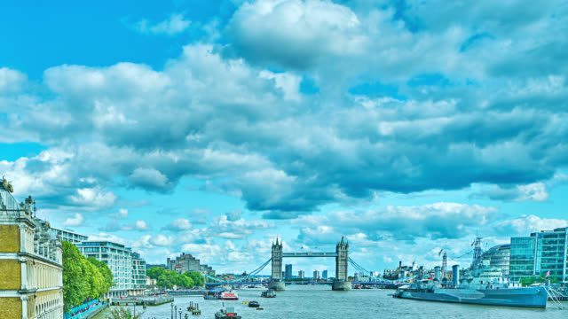 london city skyline. thames river. financial district. - panoramic stock videos & royalty-free footage