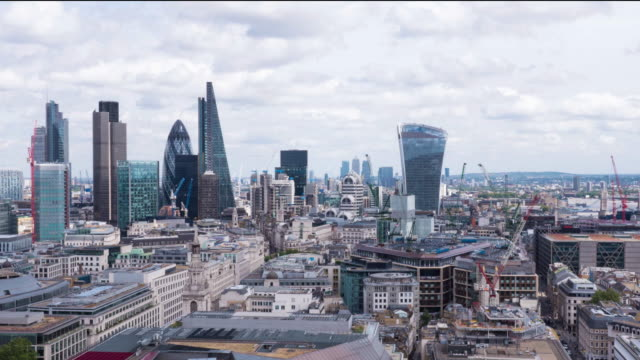 london city skyline - city of london stock videos & royalty-free footage
