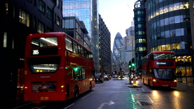 london city traffic at night - bus stock videos & royalty-free footage