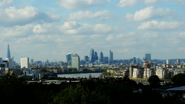 London City Viewed From Greenwich (4K/UHD to HD)