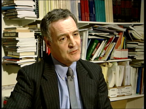 london: clarke interview sot - talks of borders between afghanistan and pakistan being porous - porous stock videos & royalty-free footage