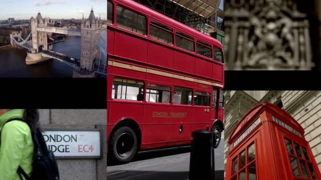 london composite - international landmark stock videos & royalty-free footage