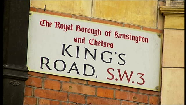 london congestion charge extension zone begins kensington and chelsea ext number 319 bus along fairly quiet high street close shot of 'king's road'... - kensington and chelsea stock videos & royalty-free footage