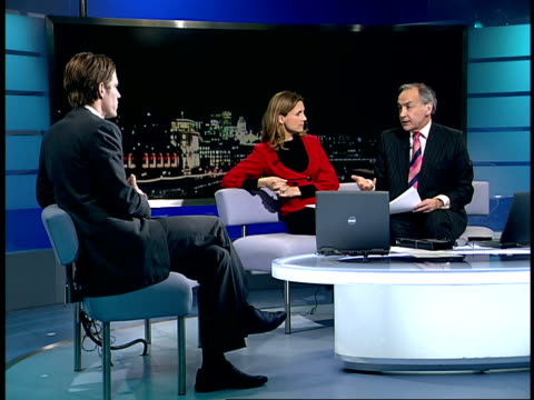 Launch of 'KenBuster' gadget to pay automatically ENGLAND London GIR INT Matthew McCluskey LIVE STUDIO interview SOT