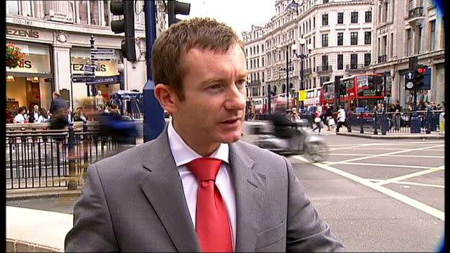 london councillor danny chalkley interview sot lapse footage of traffic and pedestrians at oxford circus and along oxford street - oxford circus stock videos and b-roll footage