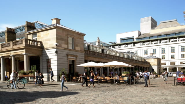 london covent garden east piazza - square stock videos & royalty-free footage