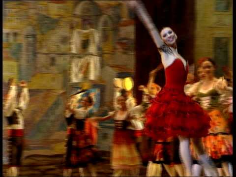 london covent garden int members of bolshoi ballet dress rehearsal of 'don quixote' russian photographer watching ms russian cameraman at work ms... - russian ballet stock videos and b-roll footage