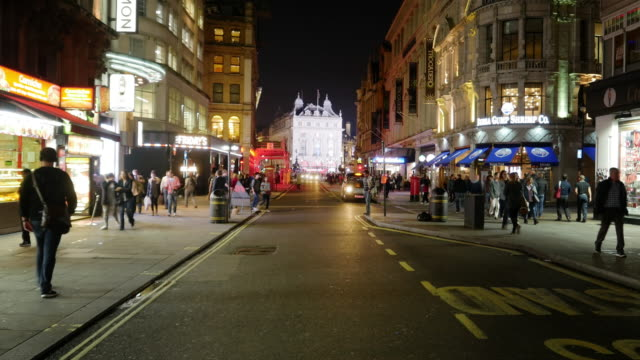 london coventry street to piccadilly circus - double decker bus stock videos & royalty-free footage
